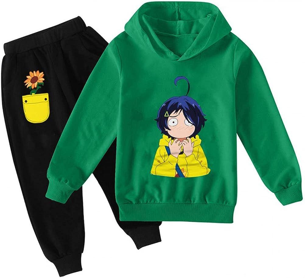 fansheng Kids Wonder Egg Priority Hoodie and Sweatpants Suit Anime Ohto Ai Sweatshirt Pants Set