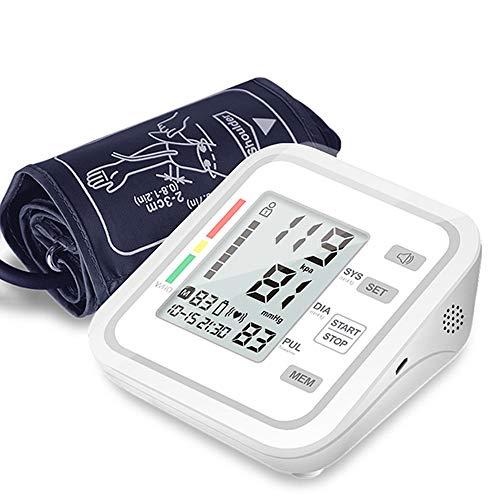 Bloeddrukmeter bovenarm, Pols Bloeddrukmeter met groot LCD Display, volledig automatische bloeddrukmeter met 2 Users198 Memories, Automatic Shut Down,No voice