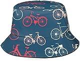 KEROTA City Race and Girls - Sombrero de cubo para bicicleta, unisex, diseño de pescador, para verano, plegable, para viajes, pesca, playa, senderismo, plegable, reversible, color negro