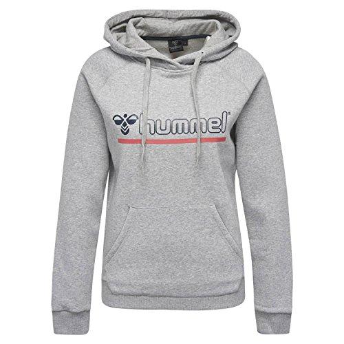 Hummel Damen Classic Bee Moon Hoodie Sweatshirt, Grey Melange, XS