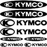SUPERSTICKI Kymco Sponsorset 226 ca 30cm Motorrad Bike Motorcycle Aufkleber Bike Auto Racing Tuning aus Hochleistungsfolie Aufkleber Autoaufkleber Tuningaufkleber Hochleistungsfolie für All