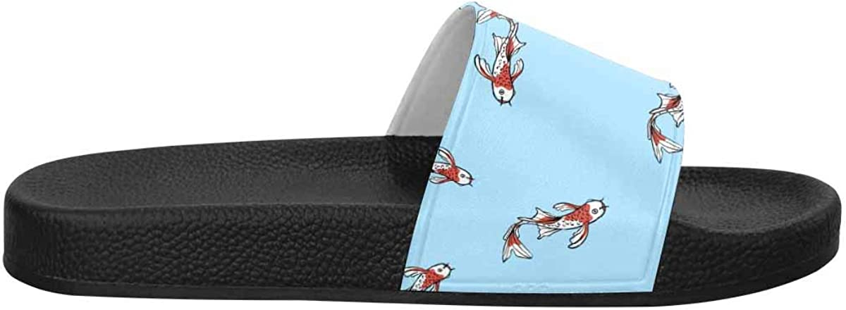 InterestPrint Women's Stylish Slipper Sandals Made from Soft Material Kangaroo and Palm Leaves