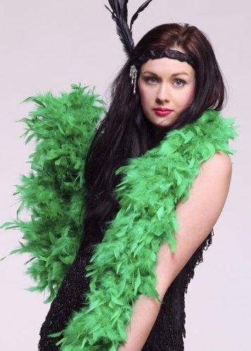 Struts Fancy Dress Boa di Piume Verde Smeraldo Deluxe 20s