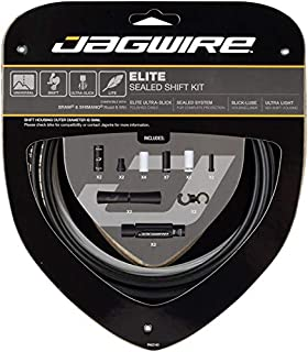 Jagwire - Universal 2X Elite Sealed DIY Shift Cable Kit | for Road, MTN, and Gravel Bike | SRAM and Shimano Shifter Compatible, Polished Ultra Slick Cables with Lubricated Liners, 3 Colors