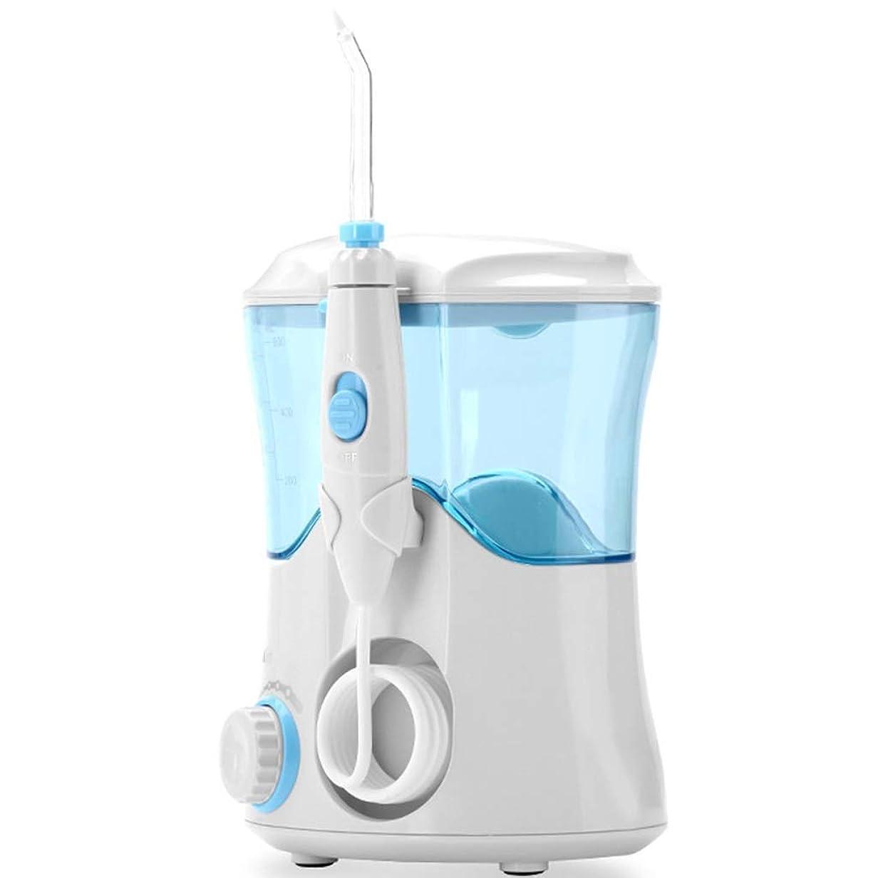 シロクマ人類ビルマプロのコードレス歯科用口腔洗浄器 - ポータブルおよび充電式IPX7は、家庭用および旅行用の洗浄可能な水タンクで3モードのフロスを防水、ブレース、ブリッジのお手入れ (Color : Black)