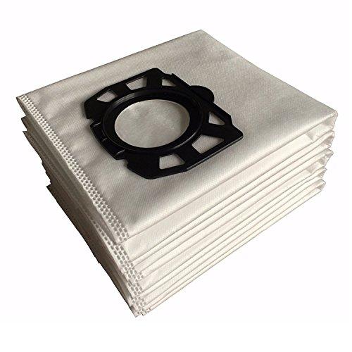 YTT para Karcher Fleece Filter Bags Replacement para WD4, WD5, WD5 / P Aspiradoras secas y mojadas MV4, MV5, MV6 (6 paquetes)