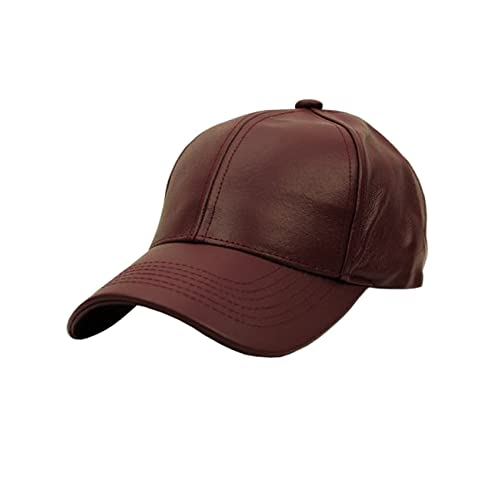 ff255b0b2ee NYFASHION101 Unisex Adjustable Genuine Leather Baseball Cap Hat Made in USA