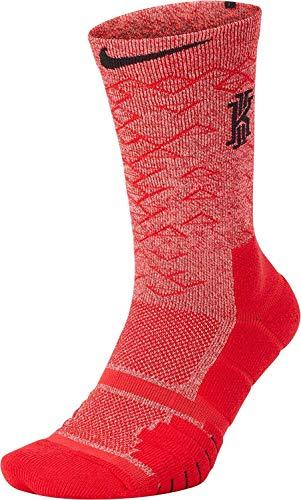 Nike Elite Quick NBA Logo kyrie Irving 112018Ufficiale, calze da uomo, Unisex adulto, MULTICOLORE/ROSSO (UNIVERSITY RED)/NERO, XL