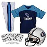Franklin Sports Deluxe NFL-Style Youth Uniform NFL Kids Helmet, Jersey, Pants, Chinstrap and Iron on Numbers Included Football Costume for Boys and Girls