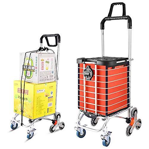 Carrito de compras plegable de gran capacidad, 35L con bolsa desmontable y resistente Carrito grande plegable con 8 ruedas Cesta de fácil uso para subir escaleras de doble uso,G