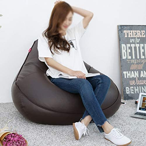 Faul Sitzsack Lounger Sofa Einzelner Stuhl Abnehmbares waschbares Leder Garten (Farbe   B)