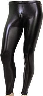 80's Men's Heavy Metal Rocker Superhero Pants Shiny Black