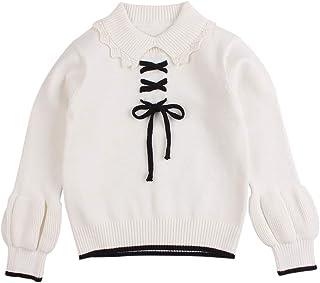 Peecabe طفل رضيع بنين بنات ملابس الشتاء الرباط محبوك سترة الرقبة الرباط سترة دافئة البلوز أعلى