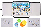 Jigsaw Puzzle Board, 1000 Pieces Puzzle Board Portable for Puzzle Storage, Puzzle Mat for Jigsaw Puzzles, Puzzle Table, Puzzle Case with Sorting Trays, Non-Slip Surface