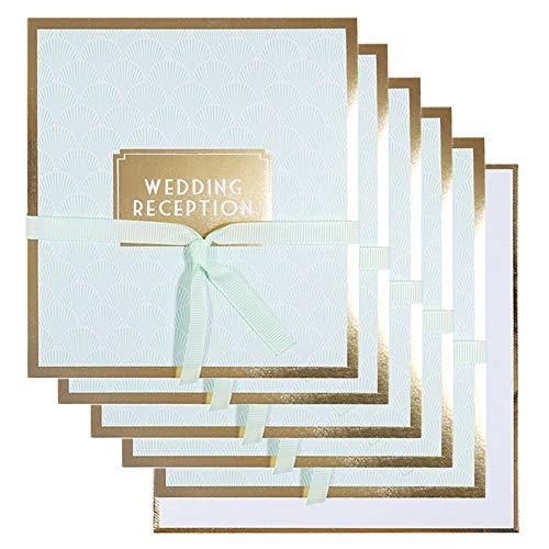 Scallop bruiloft receptie uitnodigingen - pak van 10