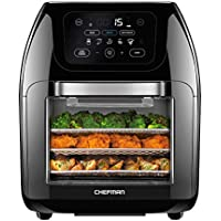 Chefman Multifunctional Digital Air Fryer+ Rotisserie, Dehydrator, Convection Oven with 14 Touch Screen Presets Fry, Roast, Dehydrate & Bake, Auto Shutoff & Accessories Included (RJ38-10-RDO-V2)