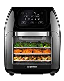 Chefman Multifunctional Digital Air Fryer+ Rotisserie, Dehydrator, Convection Oven, 14 Touch Screen Presets Fry, Roast, Dehydrate & Bake, Auto Shutoff, Accessories Included, XL 10L Family Size
