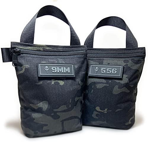 Black Skull Bags - Black Multicam Ammo Bags (2 Pack - 9MM | 5.56)