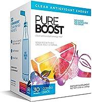 Pureboost Clean Energy Drink Mix. No Sugar. No Sucralose. Healthy Energy Loaded with B12, Antioxidants, 25 Vitamins,...