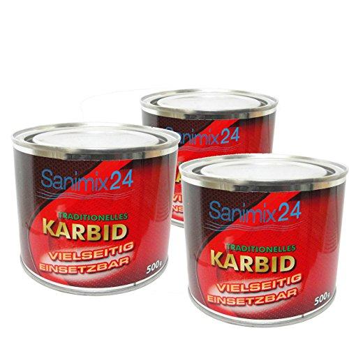 Sanimix24 1,5 Kg Karbid ALT BEWÄHRT & ERGIEBIG große Stücke für langanhaltende Wirkung und hohe Gasentwicklung für Karbidlampen Karbidschweißen UVM. - Carbid Calciumkarbid