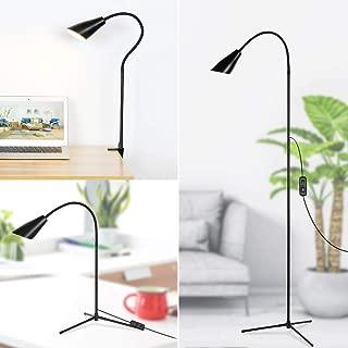 LED Floor Lamp Adjustable Gooseneck 2 Color Temperatures Reading Standing Light for Living Room Bedroom Office