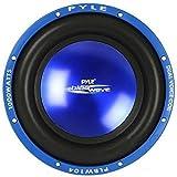 SUBWOOFER Sub Auto Pyle PLBW104 da 500 Watt RMS E 1000 Watt Max 10' 25 CM 250 MM DVC Doppia Bobina 4 + 4 Ohm Dual Coil DVC Cofano Bagagliaio Auto Car