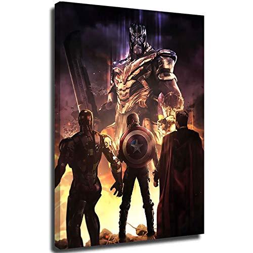 Avengers Infinity War - Poster 3D dipinto a mano su tela, motivo astratto, 50,8 x 71,1 cm