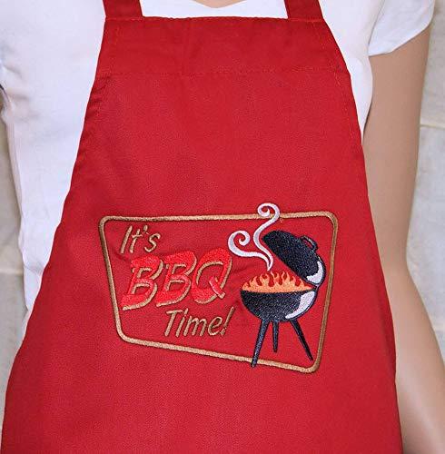 Alicert5II BBQ Time Cookout Grill Tailgaiting Party geborduurd logo Pocket Chef Schort MTCoffinz kleur cadeau voor papa