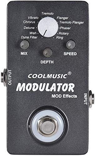 SWEET Efecto Guitarra Eléctrica Pedal Modulador Digital con Luz LED De 11 Efectos De Modulación Real De Derivación del Caso Full Metal