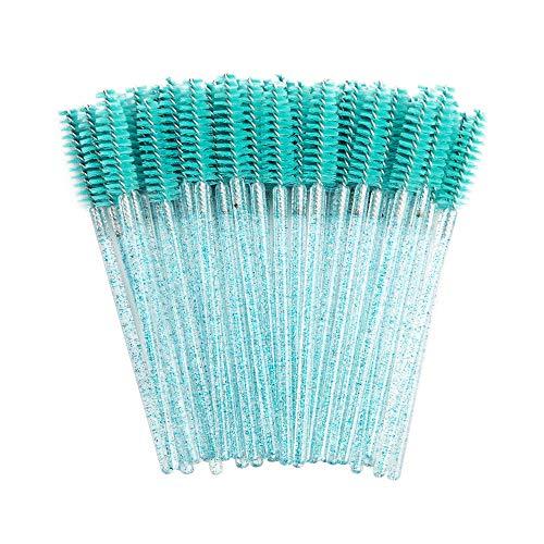 Bonne Qualité Jetable 200 Pcs/Pack Cristal Cils Maquillage Brosse Diamant Poignée Mascara Baguettes Cils Extension Outil-Bleu bébé