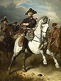 Artland Alte Meister Kunst Bild Impressionismus Wilhelm Camphausen Wandbilder Friedrich der Große zu Pferde 60 x 45 cm Leinwandbild Deko Art R1IA