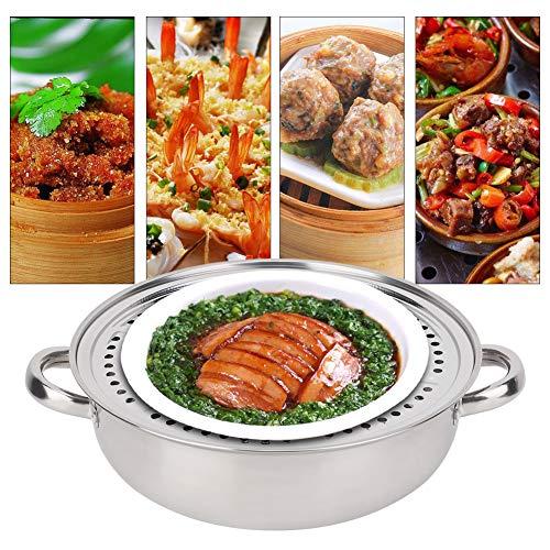 Multifunktionaler 28-cm-Suppentopf aus Edelstahl, Kochgeschirr für Heißtopf-Dampfgarer, rutschfeste Ergonomie für Hausmannskost, Bakelitmaterial ist Wärmeisolierung und Verbrühschutz