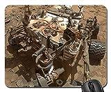 Alfombrilla Ratón Mars Rover Curiosity Vehicle Cosmos Space Travel Alfombrilla Gaming Base De Goma Alfombrilla Escritorio De Oficina para Trabajo Computadora 25X30Cm