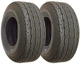 eCustomRim 2-Pack Utility Trailer Tires Rims 20.5X8-10 205//65-10 20.5X8.0-10 5 Lug E Galv