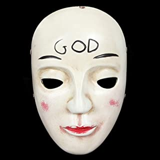 LFOZ Scary Halloween Mask Horror Ghost Mask Costume Cosplay Mask Party Props Party Gifts (Color : B)