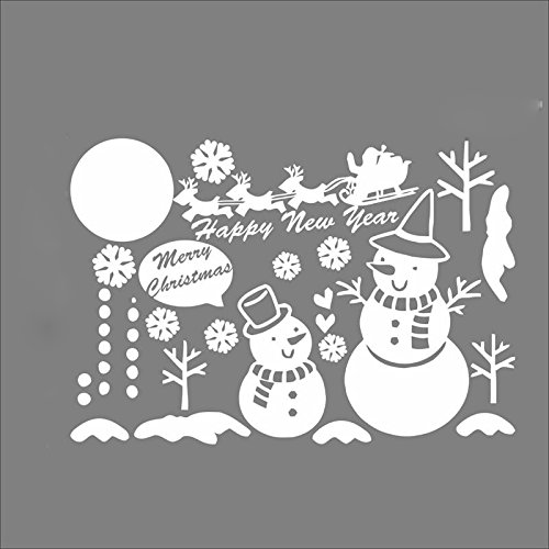 Generic Christmas Snowman Snowflake Glass Removable Window Wall Decor Sticker Party Festival Decorations