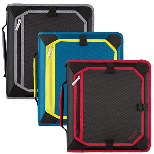 Five Star Zipper Binder, 2 Inch 3 Ring Binder, Expansion Panel, Durable, Color Selected For You, 1 Count (29052)
