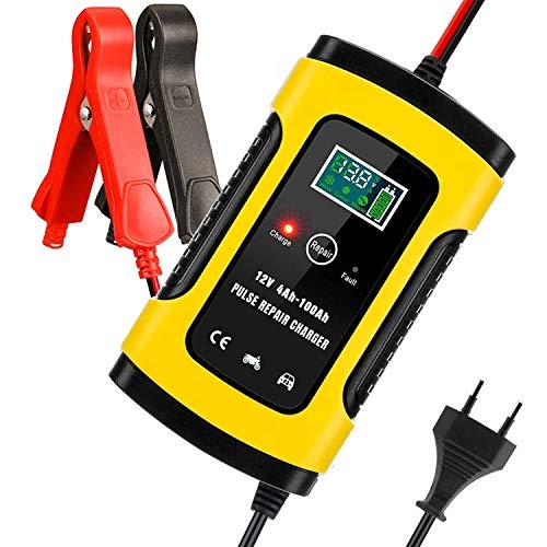 Aibeau Batterie Ladegerät Auto, Autobatterie Ladegerät 6A 12V Batterieladegerät Auto Erhaltungsladegerät mit LCD-Bildschirm Mehrfachschutz für Autobatterie, Motorrad, Rasenmäher oder Boot