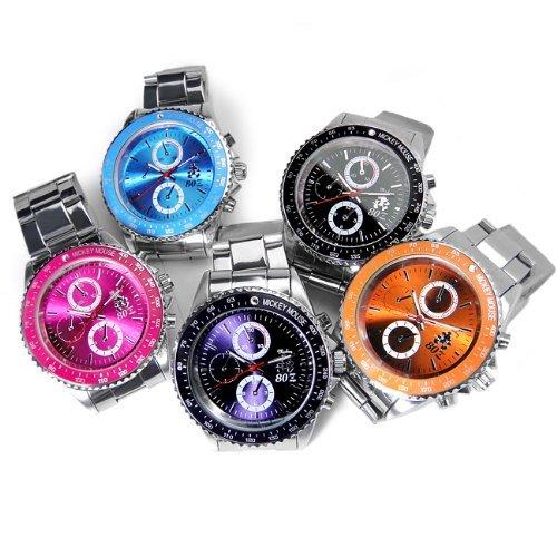 『Disney ディズニー ミッキー 生誕80周年記念 回転 ベゼル 腕時計 ピンク スワロフスキー 世界限定数生産 銀 [時計] [並行輸入品]』の2枚目の画像