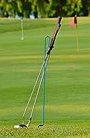 Bronwyck Stepkick Caddy - 世界最高のゴルフクラブスタンドビデオを見る(ブルー)。