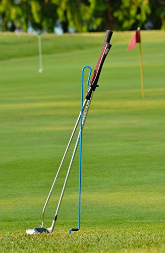 Stepkick Caddy by Bronwyck - The World's Premier Golf Club Stand. Watch Video. (Blue)
