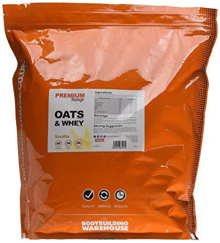 Bodybuilding Warehouse Premium Oat Whey Protein Powder Meal Replacement Shake 4kg Vanilla