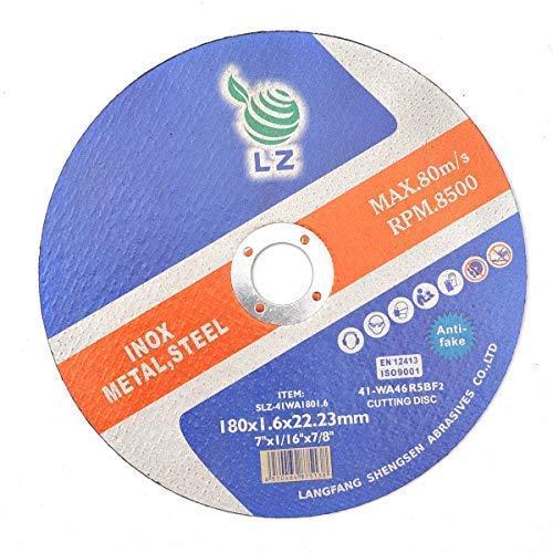 Discos corte 180 x1.6 x22.23 mm - Juego 10- Para amoladora
