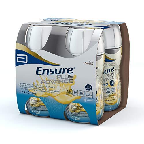 Ensure Plus Advance Supplemento Alimentare Formato Bevanda, Confezione 4 x 220 ml, Gusto Banana