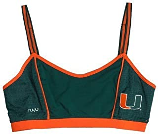 University of Miami Sporty Bralette with Back Straps- Hurricanes