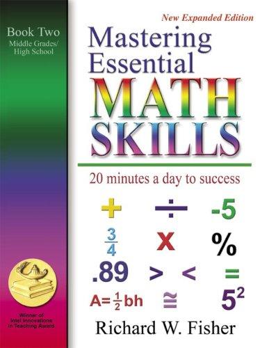 Mastering Essential Math Skills Book Two Middle Grades/High School....INCLUDING AMERICA'S MATH TEACHER DVD WITH OVER 7 HOURS OF LESSONS!
