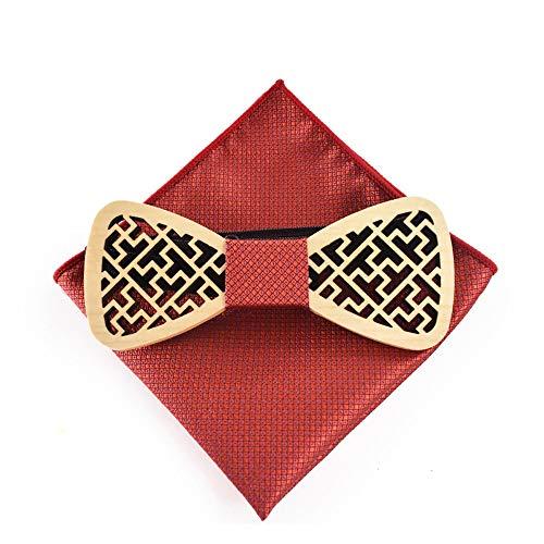 Pajarita Moda, Natural, Hecho A Mano De los hombres de las mujeres de madera pajarita ventana recorte tallado camisa de madera pajarita de la moda de los hombres presente corbata - partes accesorios d