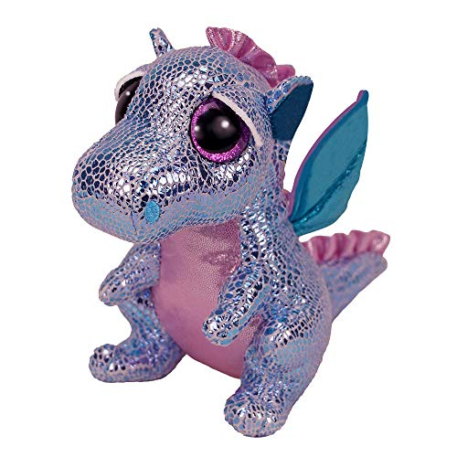 Claire's Exclusive Official Ty Beanie Boo Holly The Dragon Soft Plush Toy for Girls, Purple, Small, Stocking Stuffer, 6 Inches