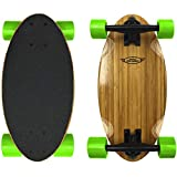 EasyGoProducts Mini Cruiser Wood Longboard Style Skateboard – Lightweight and Portable – Beginners to Experts - Green, Model:EGP-SKBD-GRN