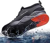 GTI Original zapatos de seguridad zapatos de trabajo anti smashing anti perforación zapatos de protección deportivos con puntera de acero transpirable, color Negro, talla 43 EU